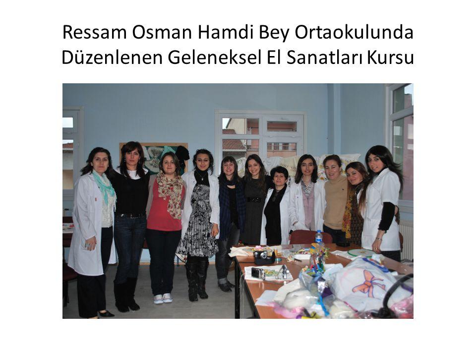 Ressam Osman Hamdi Bey Ortaokulunda Düzenlenen Geleneksel El Sanatları Kursu