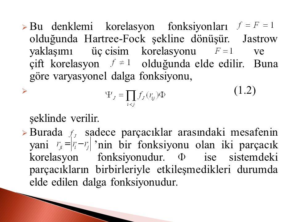 Bu denklemi korelasyon fonksiyonları