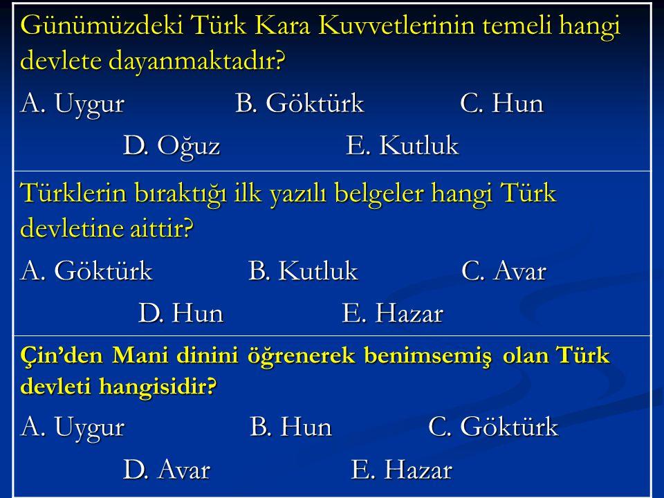 Türklerin bıraktığı ilk yazılı belgeler hangi Türk devletine aittir