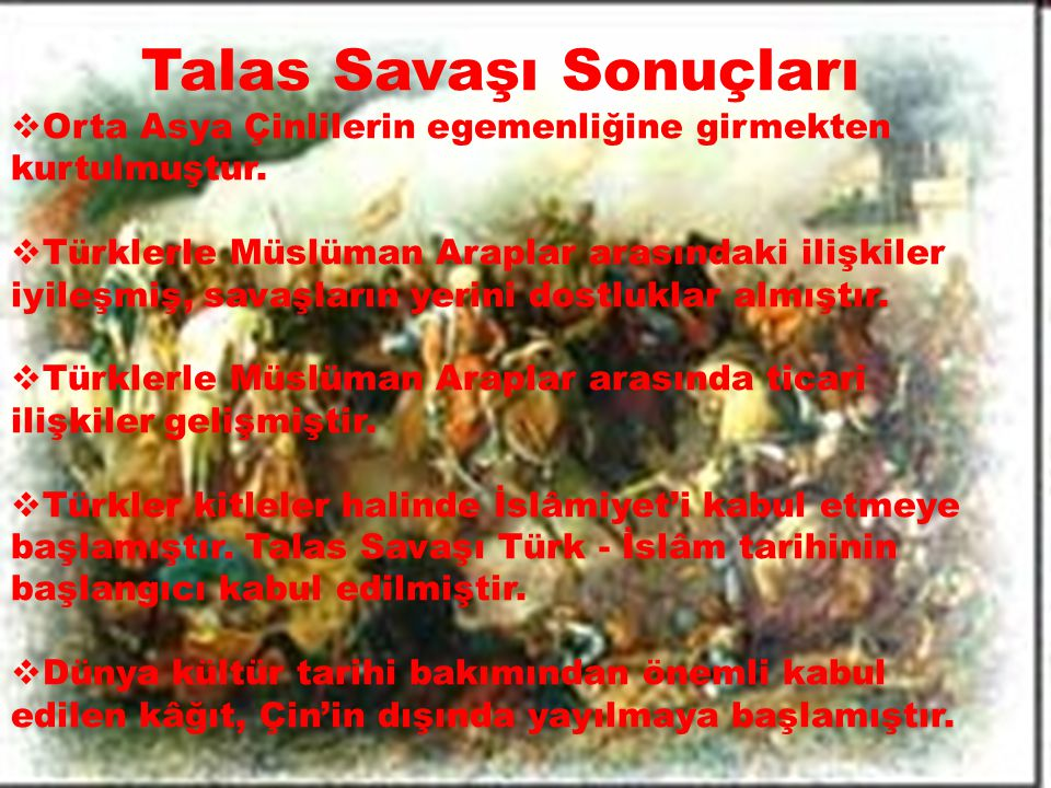 Talas Savaşı Sonuçları
