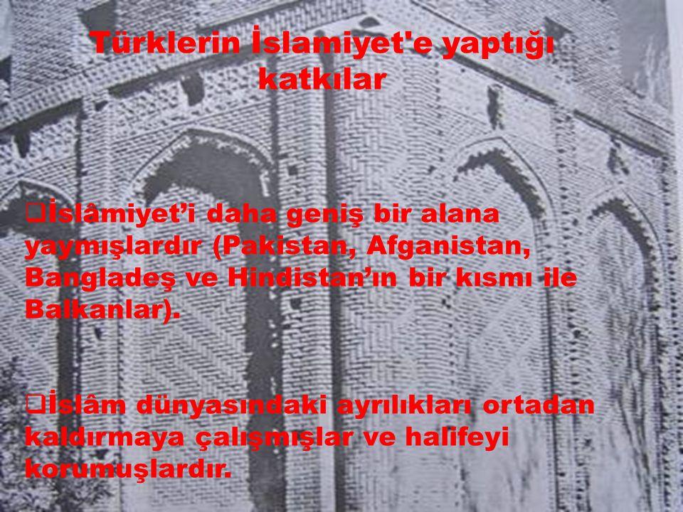 Türklerin İslamiyet e yaptığı katkılar