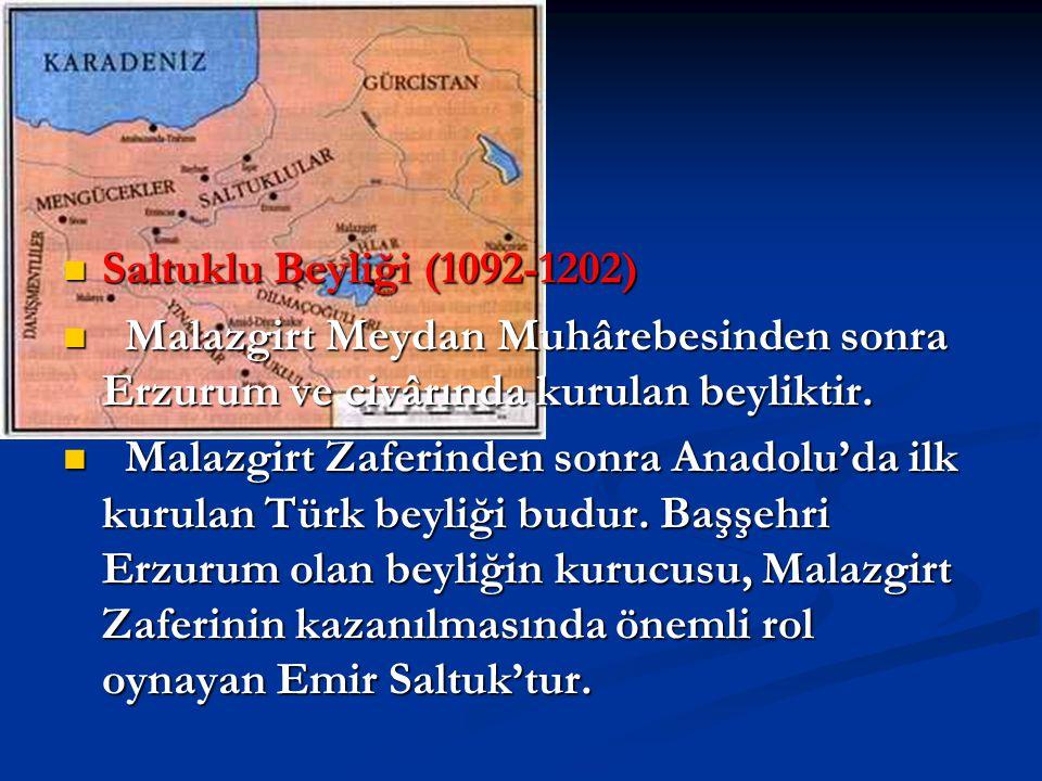 Saltuklu Beyliği (1092-1202) Malazgirt Meydan Muhârebesinden sonra Erzurum ve civârında kurulan beyliktir.