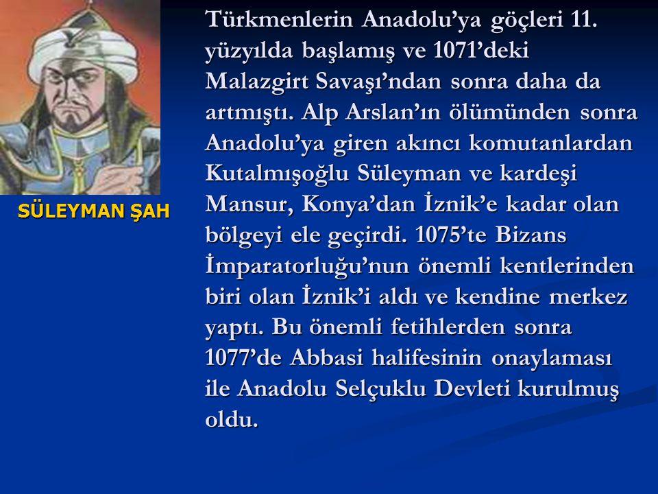 Türkmenlerin Anadolu'ya göçleri 11