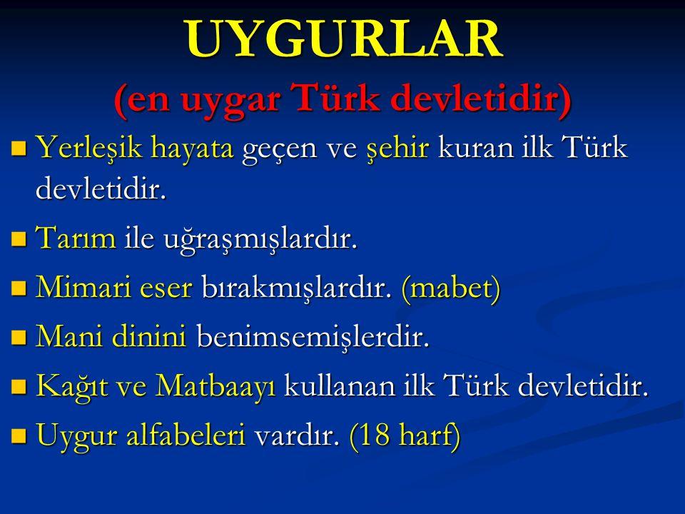 UYGURLAR (en uygar Türk devletidir)