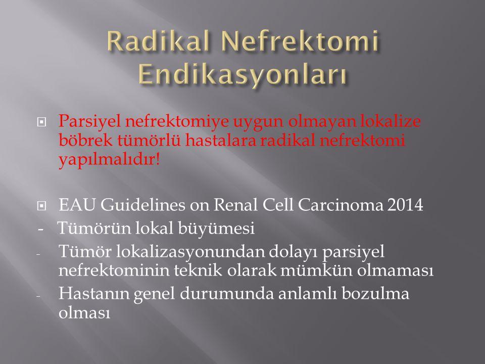 Radikal Nefrektomi Endikasyonları