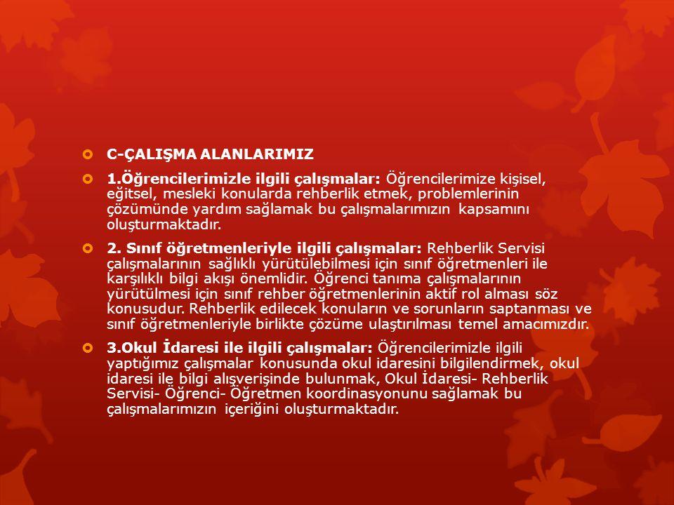 C-ÇALIŞMA ALANLARIMIZ