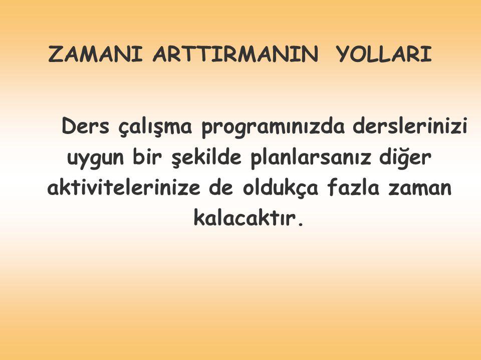 ZAMANI ARTTIRMANIN YOLLARI
