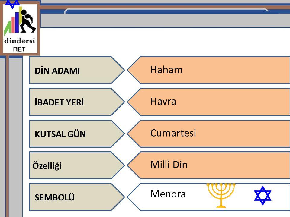 Haham Havra Cumartesi Milli Din Menora DİN ADAMI İBADET YERİ