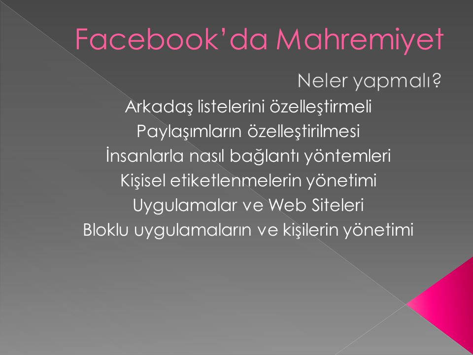 Facebook'da Mahremiyet