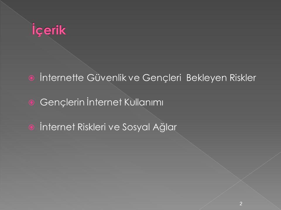 İçerik İnternette Güvenlik ve Gençleri Bekleyen Riskler