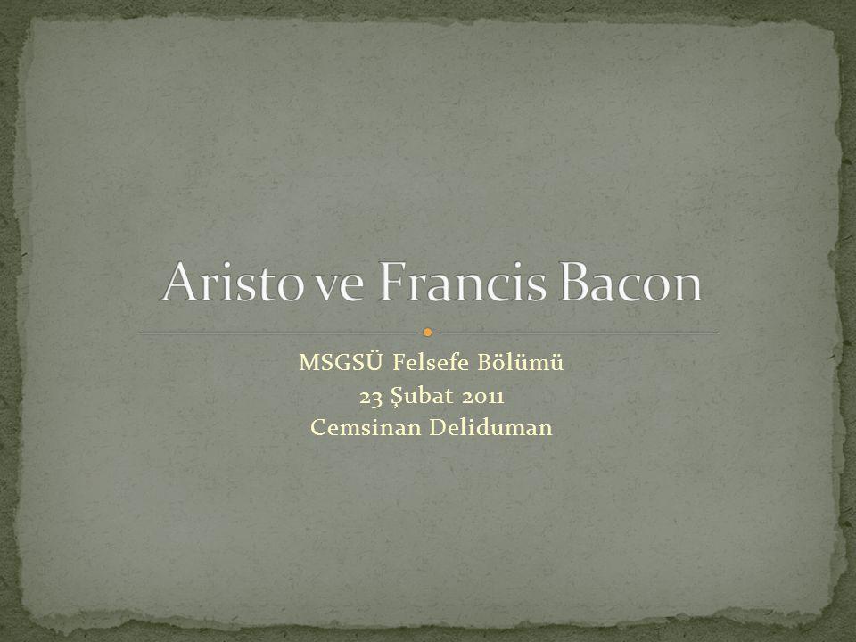 Aristo ve Francis Bacon