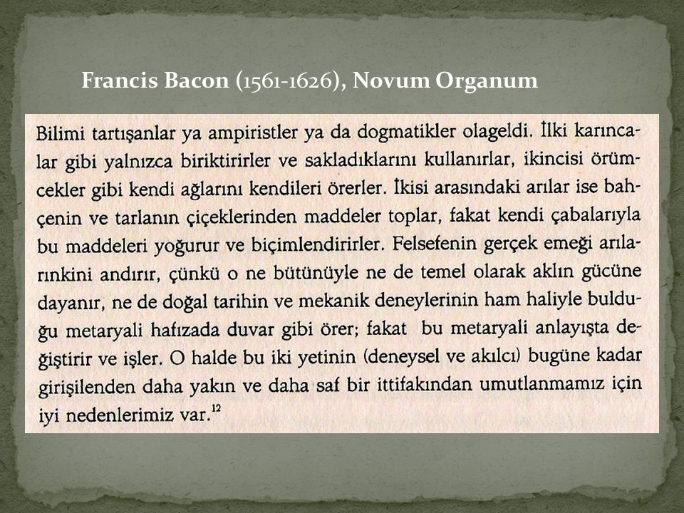 Francis Bacon (1561-1626), Novum Organum