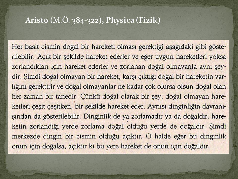 Aristo (M.Ö. 384-322), Physica (Fizik)