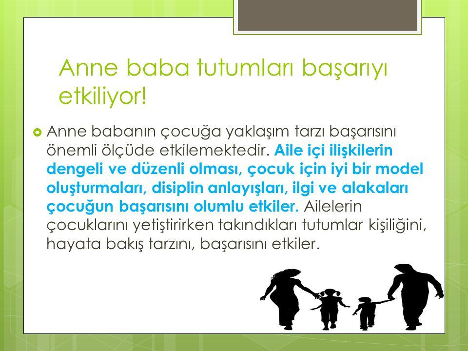 Anne baba tutumları başarıyı etkiliyor!
