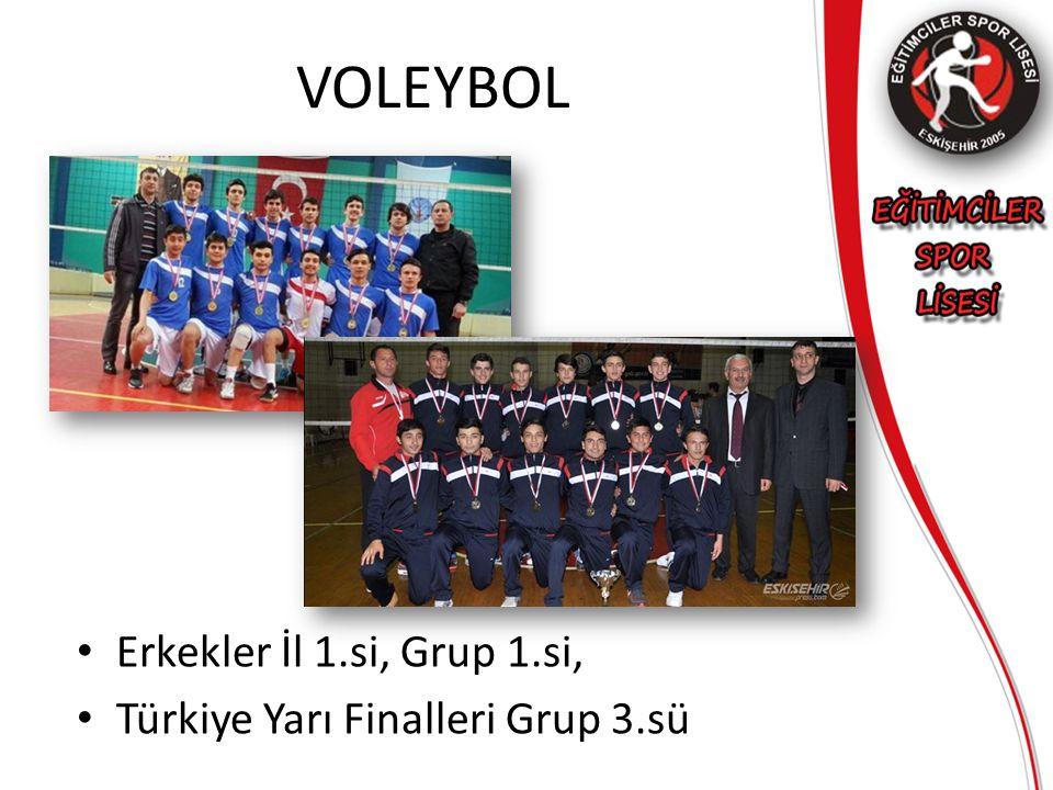 VOLEYBOL Erkekler İl 1.si, Grup 1.si, Türkiye Yarı Finalleri Grup 3.sü