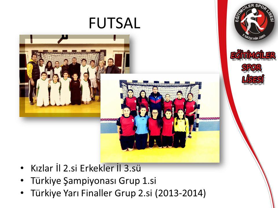 FUTSAL Kızlar İl 2.si Erkekler İl 3.sü Türkiye Şampiyonası Grup 1.si
