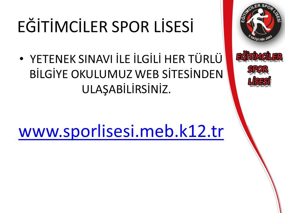 EĞİTİMCİLER SPOR LİSESİ