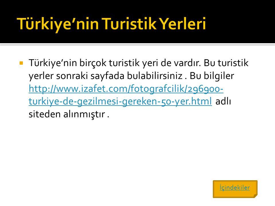 Türkiye'nin Turistik Yerleri