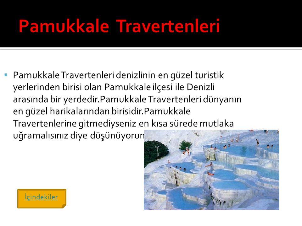 Pamukkale Travertenleri