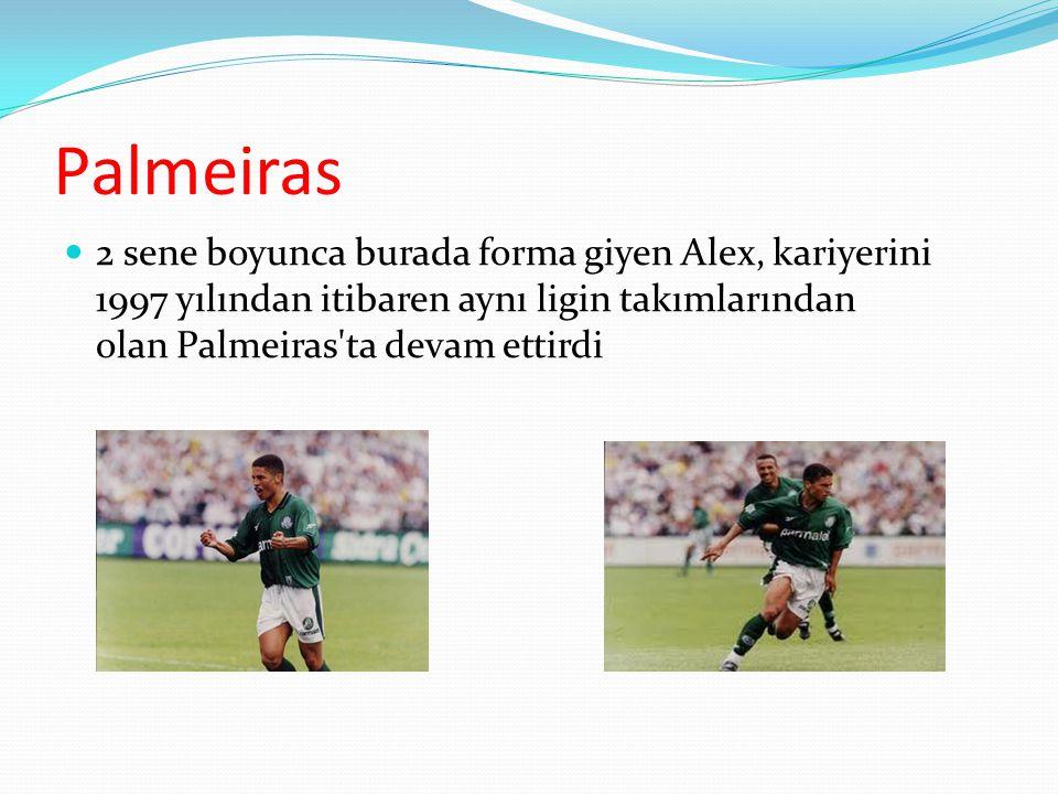 Palmeiras 2 sene boyunca burada forma giyen Alex, kariyerini 1997 yılından itibaren aynı ligin takımlarından olan Palmeiras ta devam ettirdi.