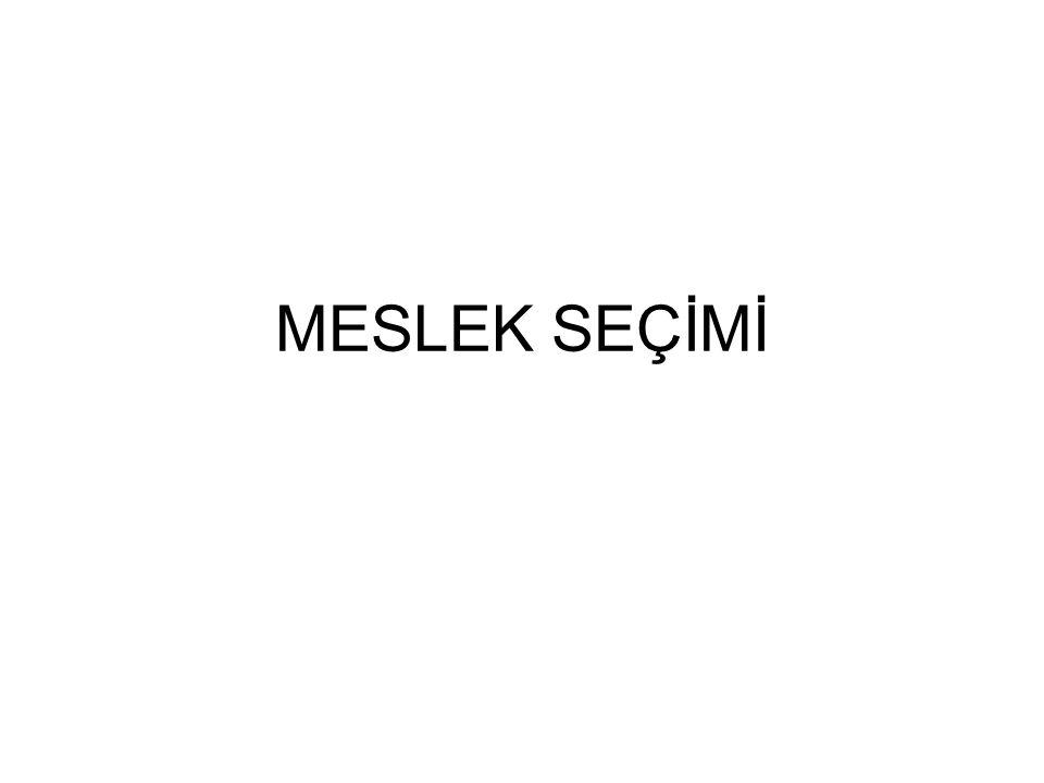 MESLEK SEÇİMİ