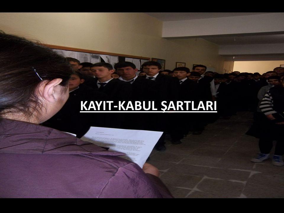 KAYIT-KABUL ŞARTLARI