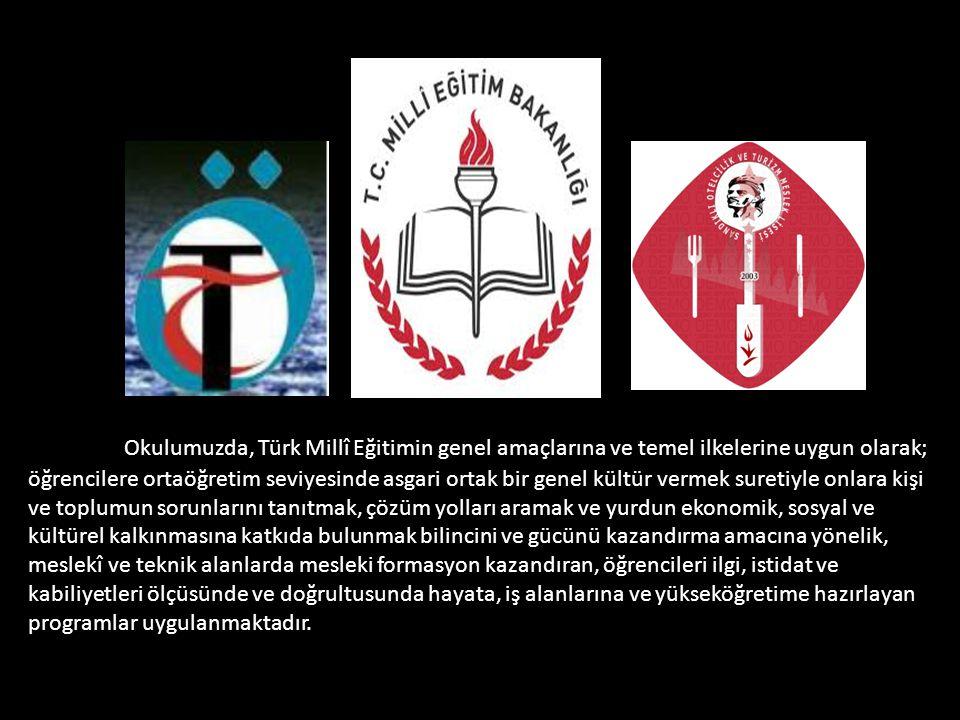 Okulumuzda, Türk Millî Eğitimin genel amaçlarına ve temel ilkelerine uygun olarak; öğrencilere ortaöğretim seviyesinde asgari ortak bir genel kültür vermek suretiyle onlara kişi ve toplumun sorunlarını tanıtmak, çözüm yolları aramak ve yurdun ekonomik, sosyal ve kültürel kalkınmasına katkıda bulunmak bilincini ve gücünü kazandırma amacına yönelik, meslekî ve teknik alanlarda mesleki formasyon kazandıran, öğrencileri ilgi, istidat ve kabiliyetleri ölçüsünde ve doğrultusunda hayata, iş alanlarına ve yükseköğretime hazırlayan programlar uygulanmaktadır.