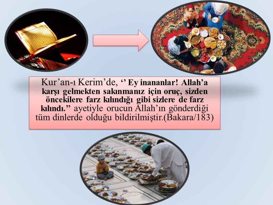 Kur'an-ı Kerim'de, '' Ey inananlar