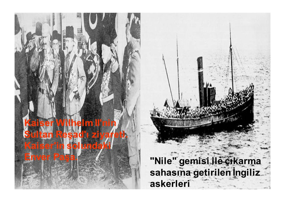 Kaiser Wilhelm II nin Sultan Reşad ı ziyareti