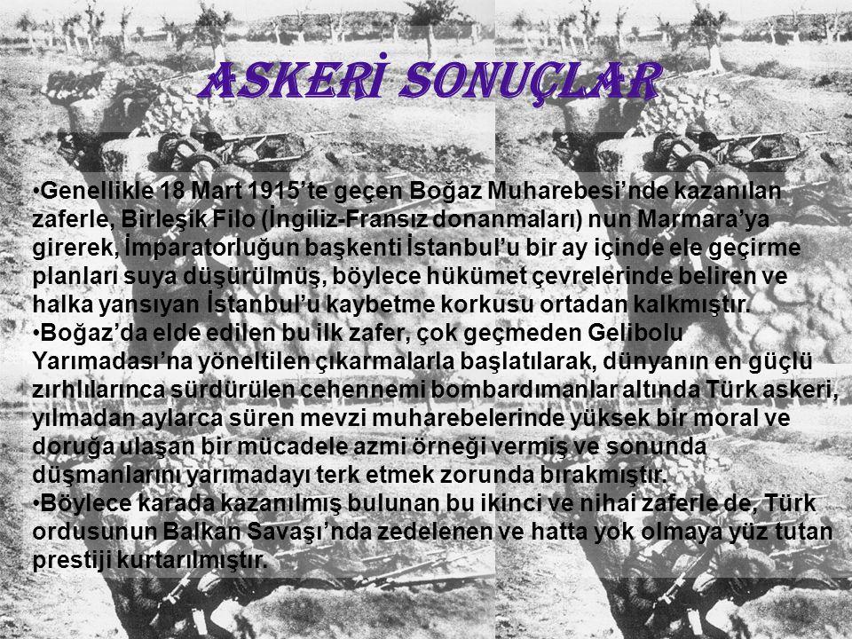 ASKERİ SONUÇLAR