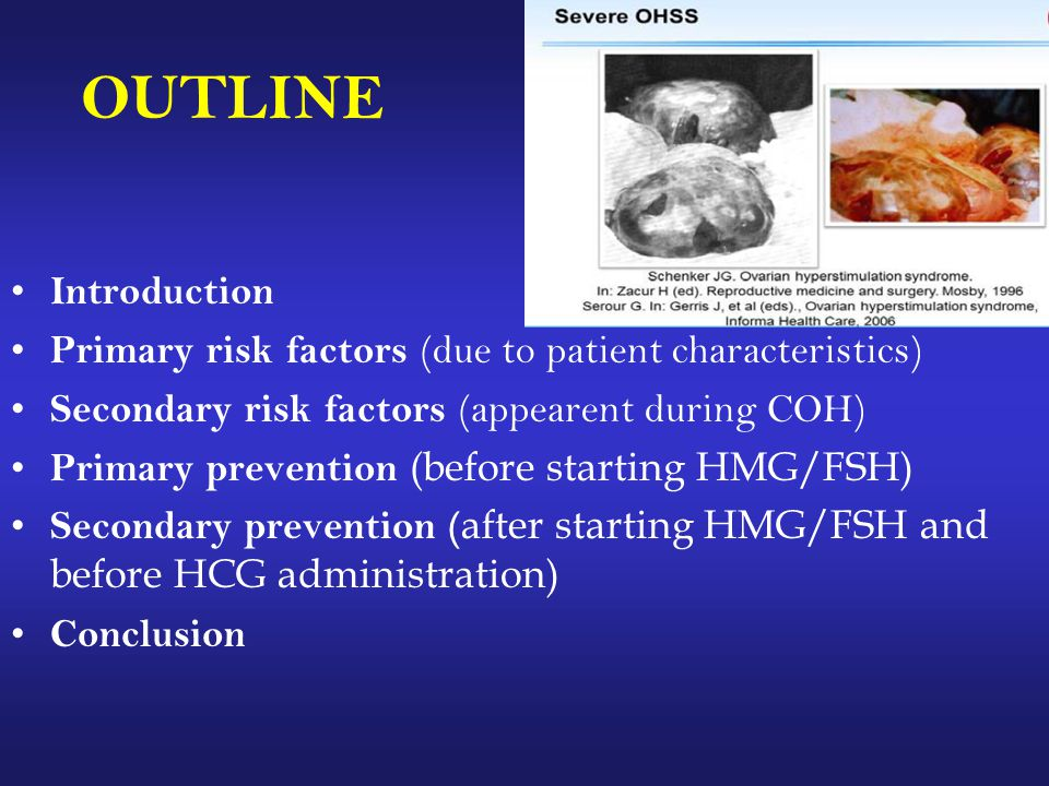OUTLINE Introduction. Primary risk factors (due to patient characteristics) Secondary risk factors (appearent during COH)