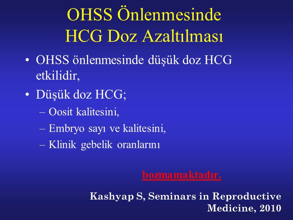OHSS Önlenmesinde HCG Doz Azaltılması