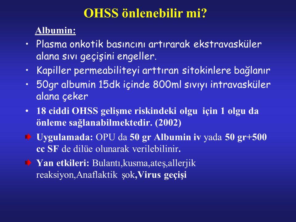 OHSS önlenebilir mi Albumin: