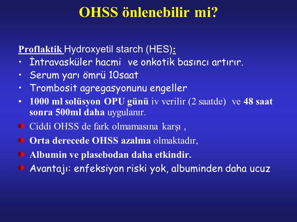 OHSS önlenebilir mi Proflaktik Hydroxyetil starch (HES):