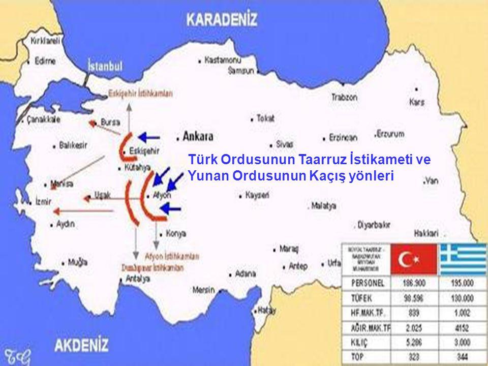 Türk Ordusunun Taarruz İstikameti ve Yunan Ordusunun Kaçış yönleri