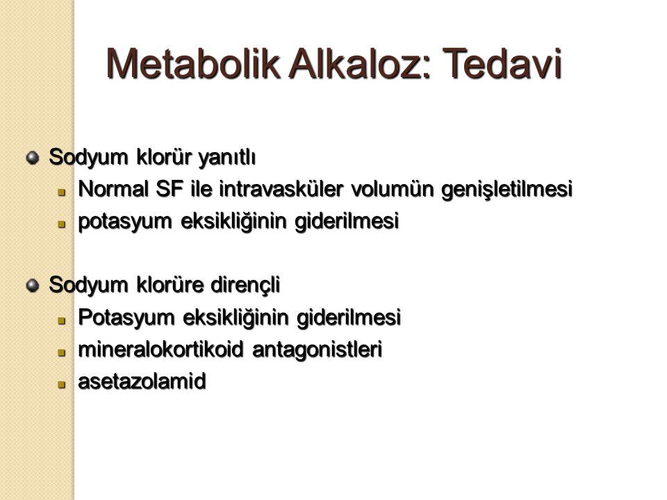 Metabolik Alkaloz: Tedavi