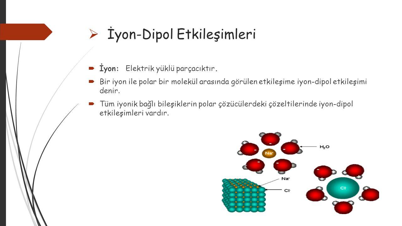 İyon-Dipol Etkileşimleri