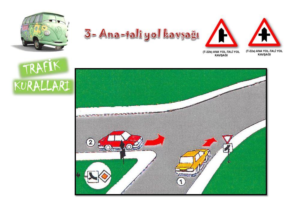 3- Ana-tali yol kavşağı TRAFİK KURALLARI