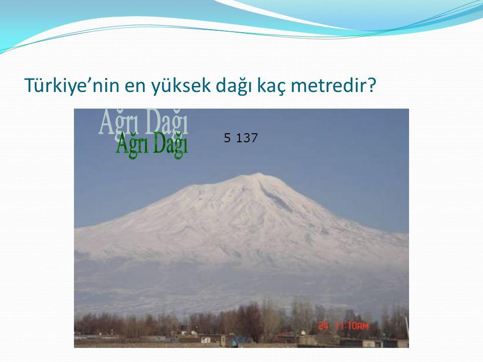 Türkiye'nin en yüksek dağı kaç metredir