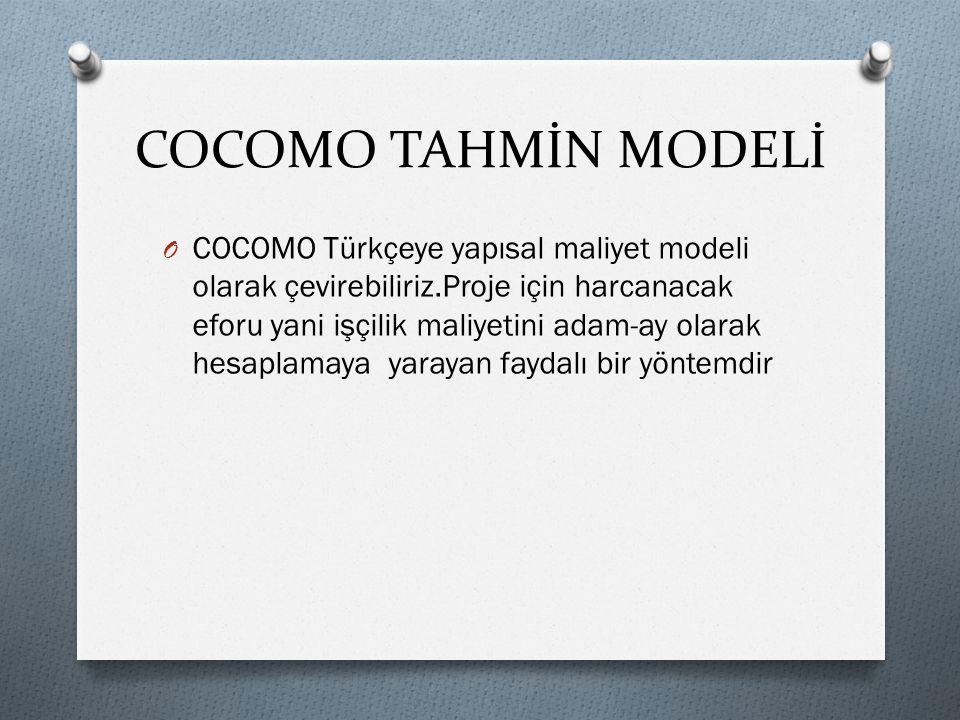 COCOMO TAHMİN MODELİ