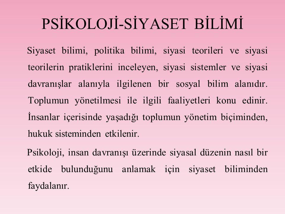 PSİKOLOJİ-SİYASET BİLİMİ
