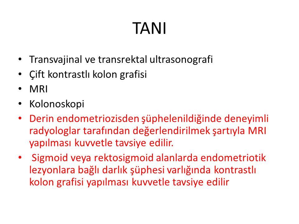 TANI Transvajinal ve transrektal ultrasonografi