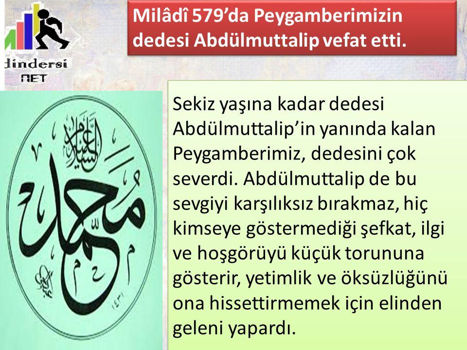 Milâdî 579'da Peygamberimizin dedesi Abdülmuttalip vefat etti.