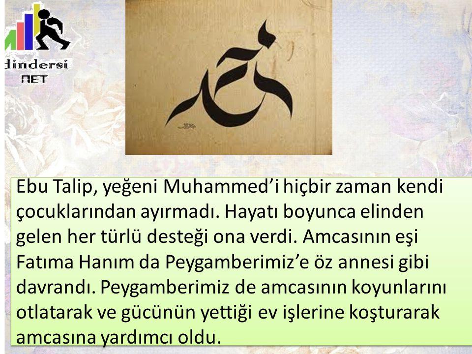 Ebu Talip, yeğeni Muhammed'i hiçbir zaman kendi çocuklarından ayırmadı