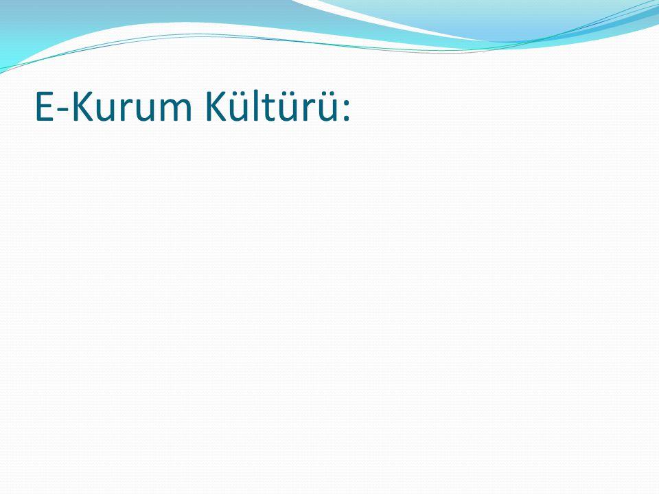 E-Kurum Kültürü: