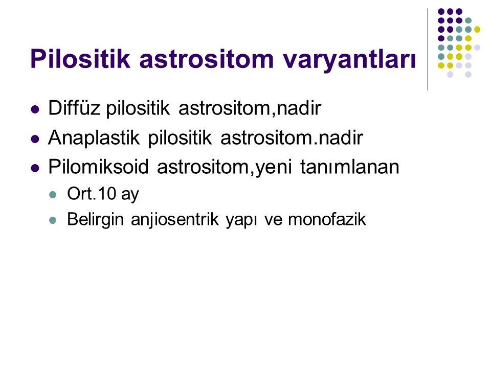 Pilositik astrositom varyantları