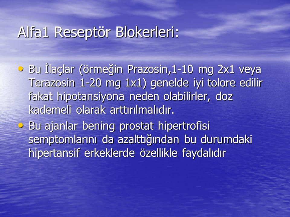 Alfa1 Reseptör Blokerleri: