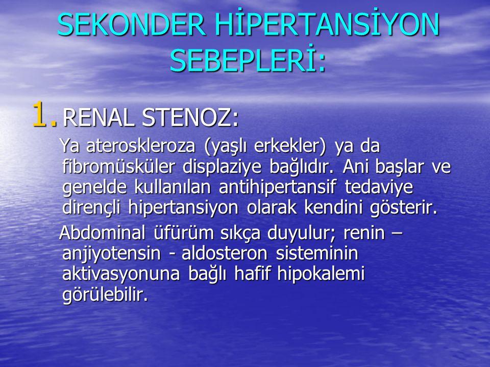 SEKONDER HİPERTANSİYON SEBEPLERİ: