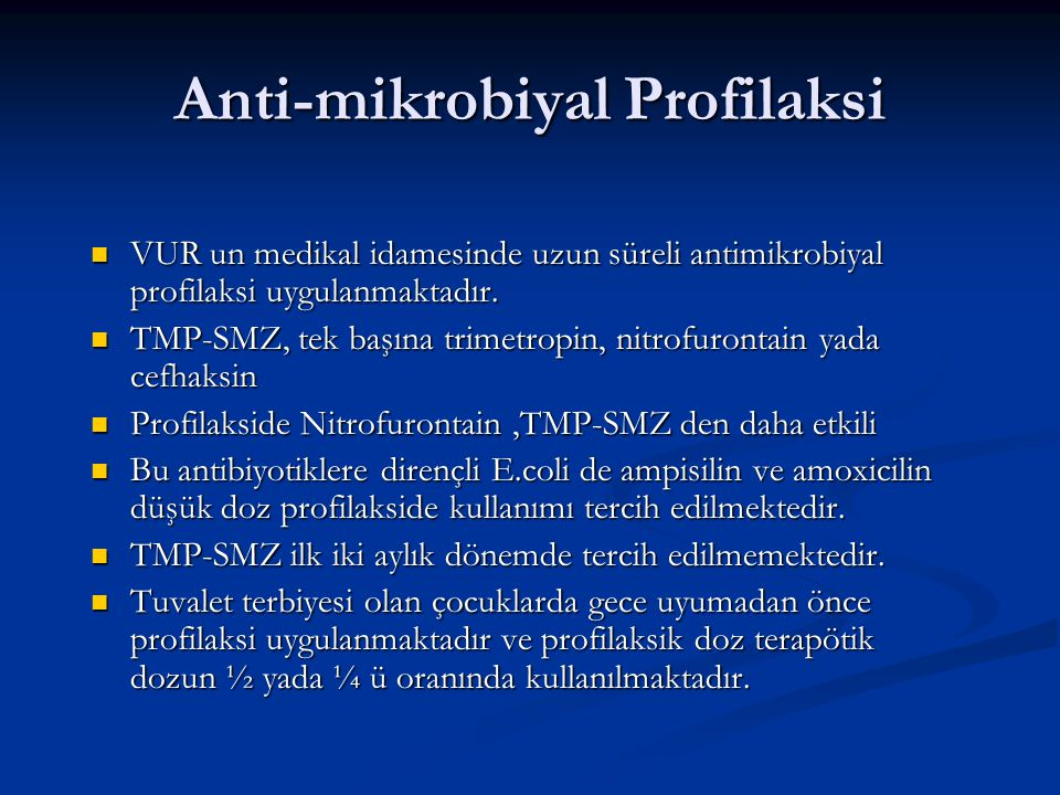 Anti-mikrobiyal Profilaksi