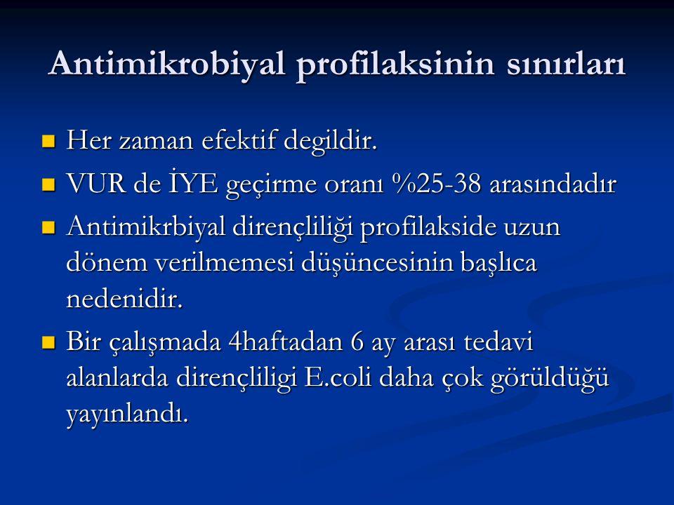 Antimikrobiyal profilaksinin sınırları